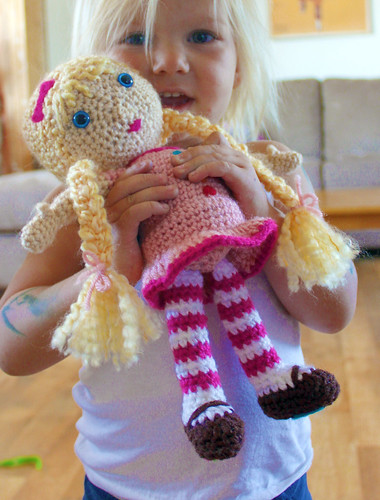 How To Make Amigurumi Dolls For Beginners : Free Crochet Pattern Doll Blogged: easymakesmehappy ...