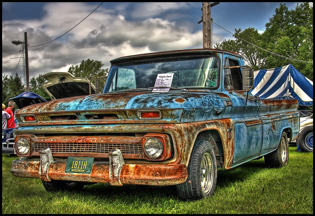 65 Chevy Truck | I like these old rusty trucks! 46th Annual … | Flickr