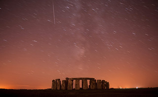 Meteor over stonehenge | by antiphos
