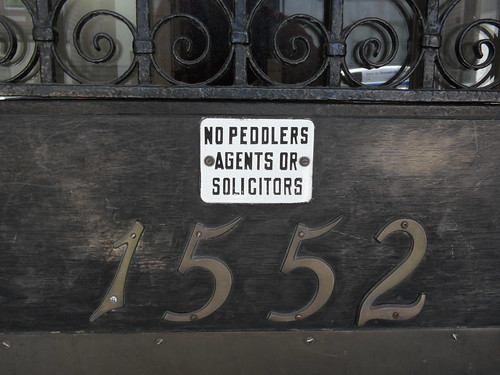 No peddlers agents or solicitors | by Eric Fischer