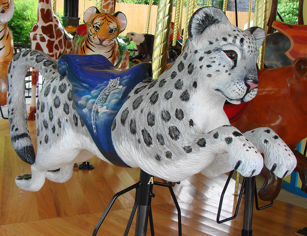 Snow Leopard Carousel Animal At The Akron Zoo