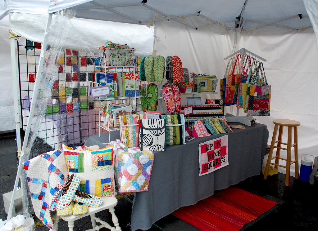Table at the redford i art festival since it was an for Art craft shows