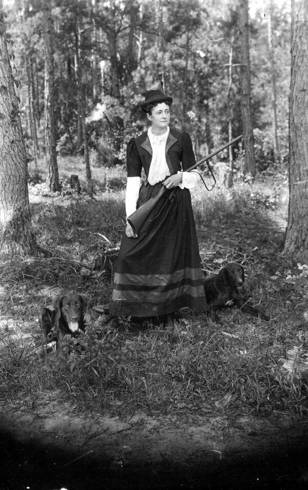 Woman with gun and hunting dogs Tallahassee Florida Flickr
