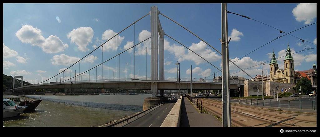 Erzsebet bridge panoramic budapest hungary roberto - Roberto herrero ...
