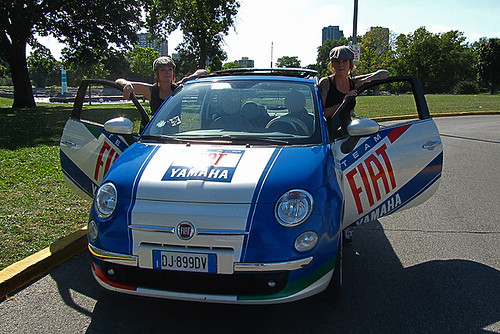fiat yamaha team 500 on the road in chicago fiatontheweb flickr. Black Bedroom Furniture Sets. Home Design Ideas