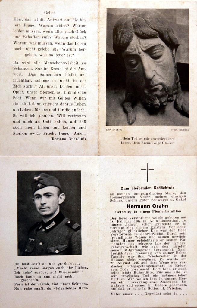 Totenzettel Grahn, Hermann † 27.08.1946