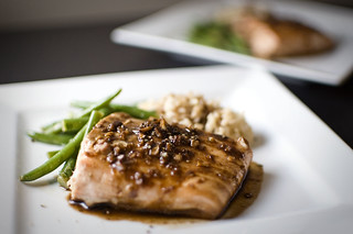 Mustard-Soy Glazed Salmon w/Brown Sugar and Ginger | by nervouschef
