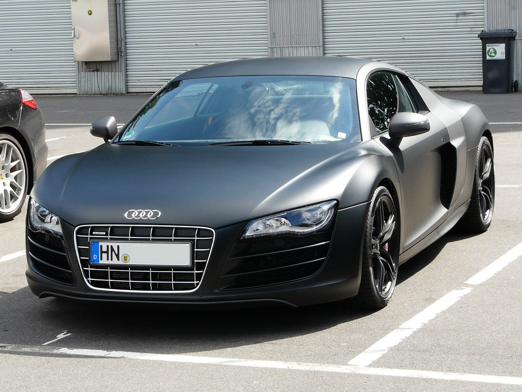 audi r8 v10 mat black 2 vincent flickr. Black Bedroom Furniture Sets. Home Design Ideas