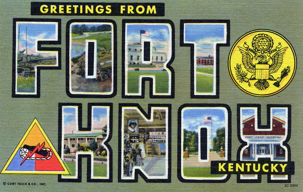 Greetings from Fort Knox, Kentucky - Large Letter Postcard… | Flickr