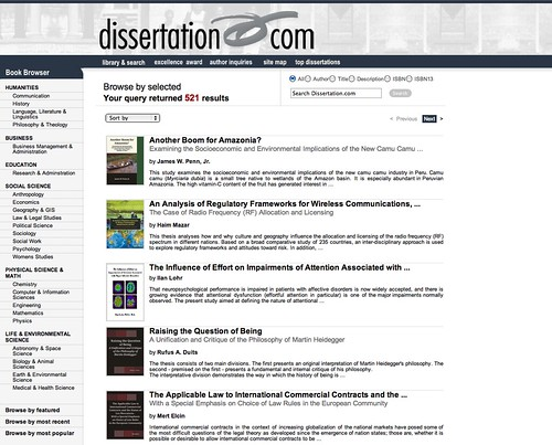 What is a dissertation?