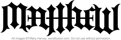 matthew ambigram v 3 a custom ambigram of the name matt flickr. Black Bedroom Furniture Sets. Home Design Ideas