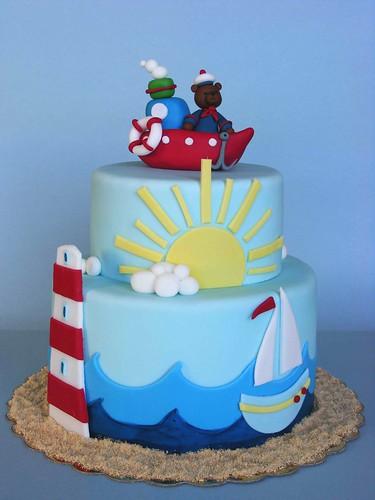 Marine Cake Честит 1 ви рожден ден Мони Историята на