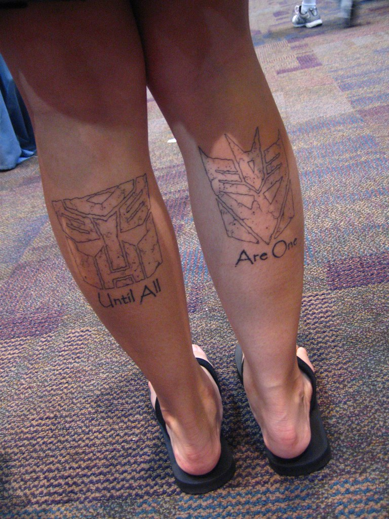 Transformers tattoos | Inside the Magic | Flickr