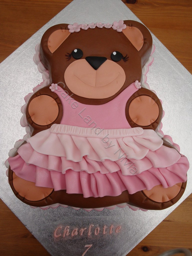 Teddy Bear Cake This Is The First Time I Use The Wilton