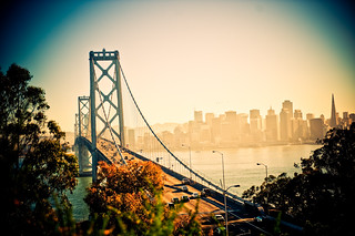 Downtown San Francisco and the Bay bridge | by tibchris