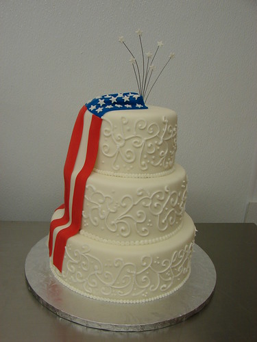 Patriotic Wedding Cake Www Littlesugarbakeshop Com Flickr