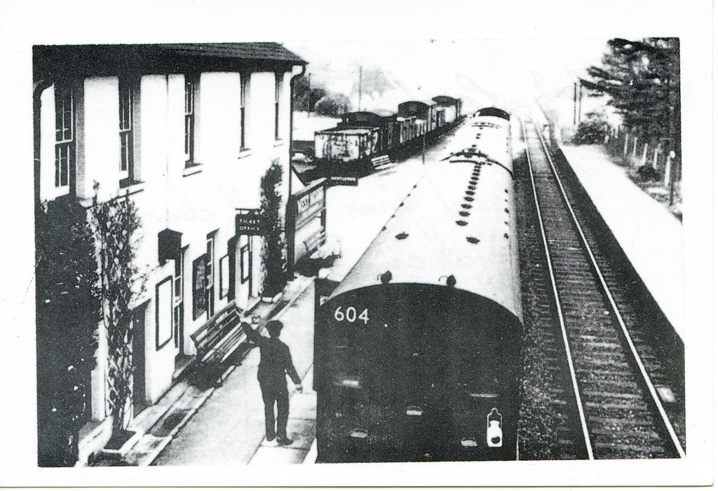 West Moors Station A Salisbury Bound Train Leaves West
