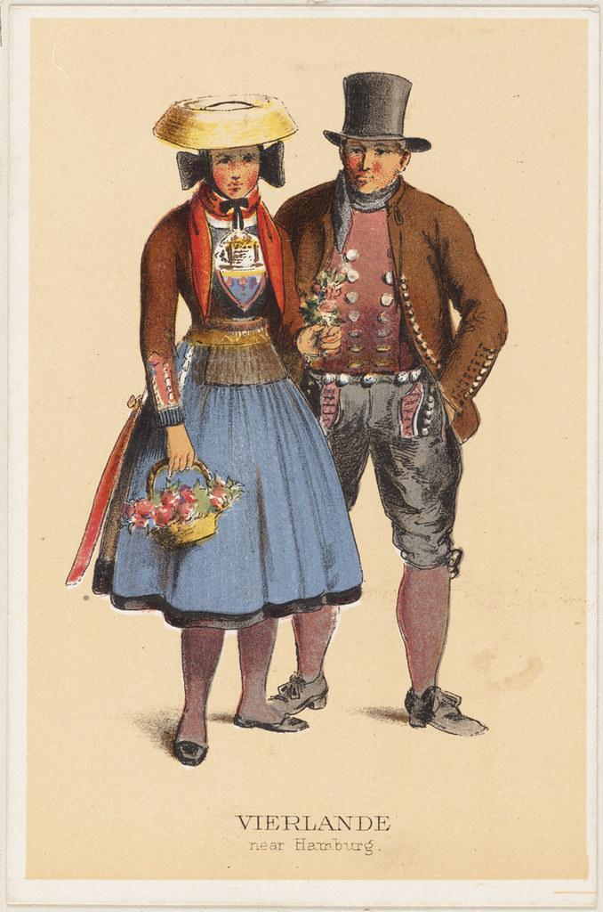 German peasant costumes vierlande near hamburg file for Fashion jobs hamburg