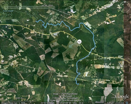 Edisto River paddling map - July 10, 2010 | by cell911