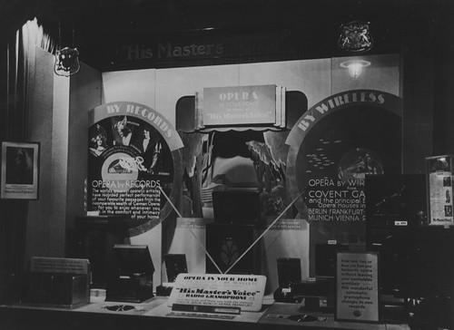 hmv 363 Oxford Street, London - Opera In Your Home window display - 1920s