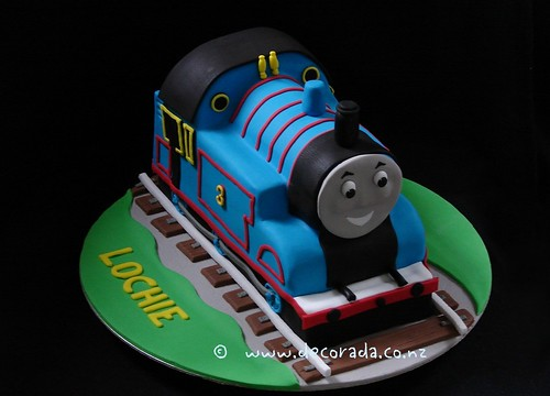 thomas tank engine cake instructions