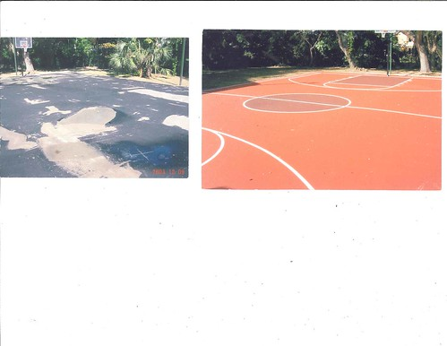 New construction private basketball court miami fl flickr for Personal basketball court