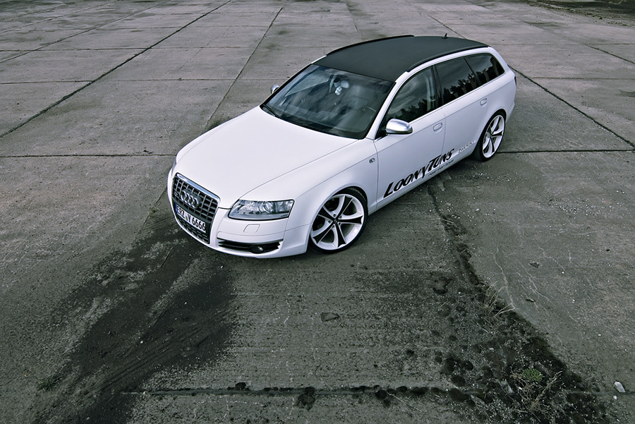 Audi A6 Avant A Matte Audi A6 Avant With A 3l Tdi And