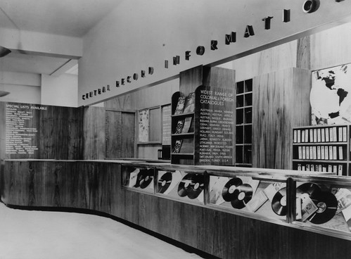 hmv 363 Oxford Street, London - Record Information Counter 1946