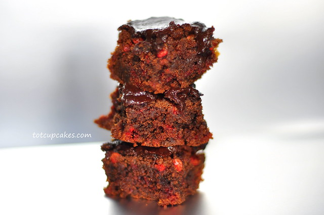 strawberry chocolate chip cookie dough brownie ~totcupcake… | Flickr ...