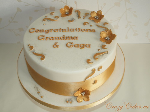 Golden Wedding Cake The Request Was For A 50th