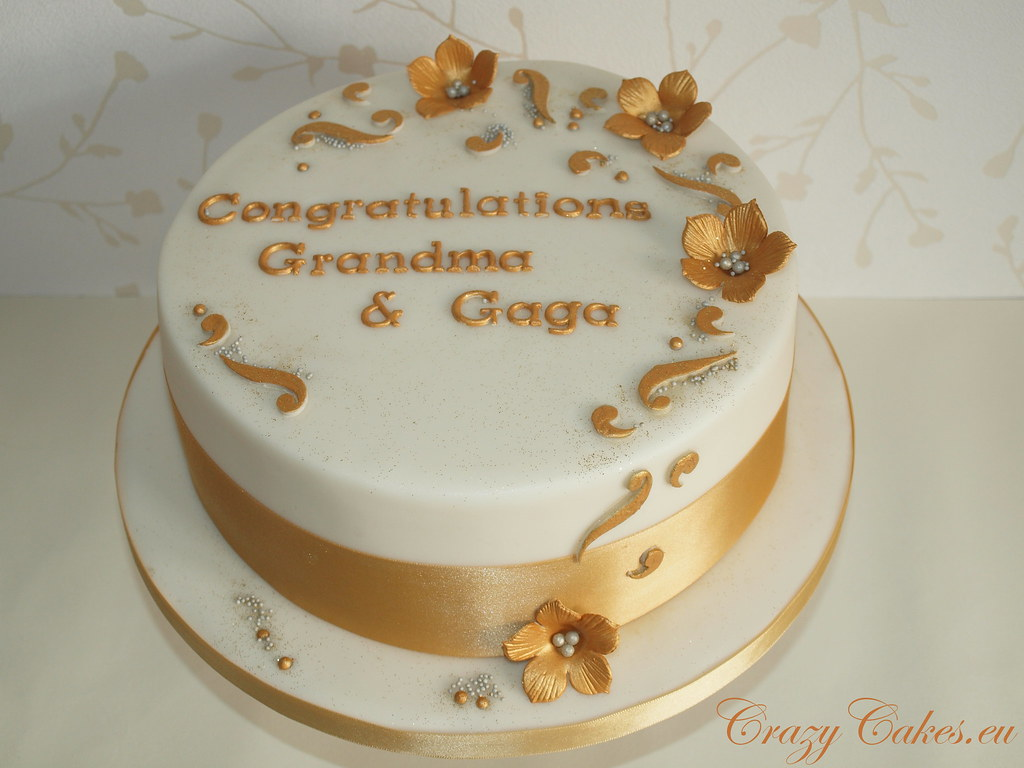 golden wedding cake ideas golden wedding cake the request was for a 50th 14759