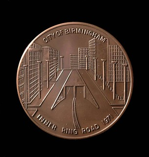 Commemorative Bronze medal for Birmingham inner ring road (Accession Number: 1971 N714) | by Birmingham Museum and Art Gallery