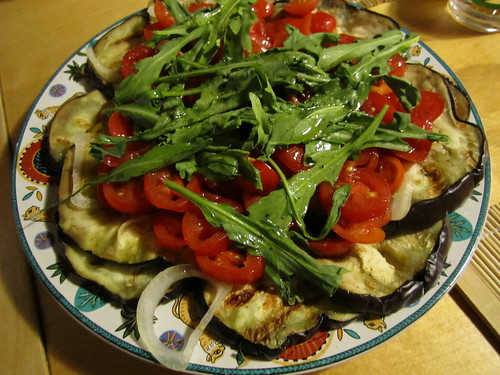 Eggplant and Cherry Tomatoes | by veganbackpacker