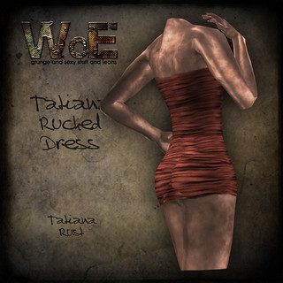 Tatiana Ruched Dress - Rust | by :. WoE .: