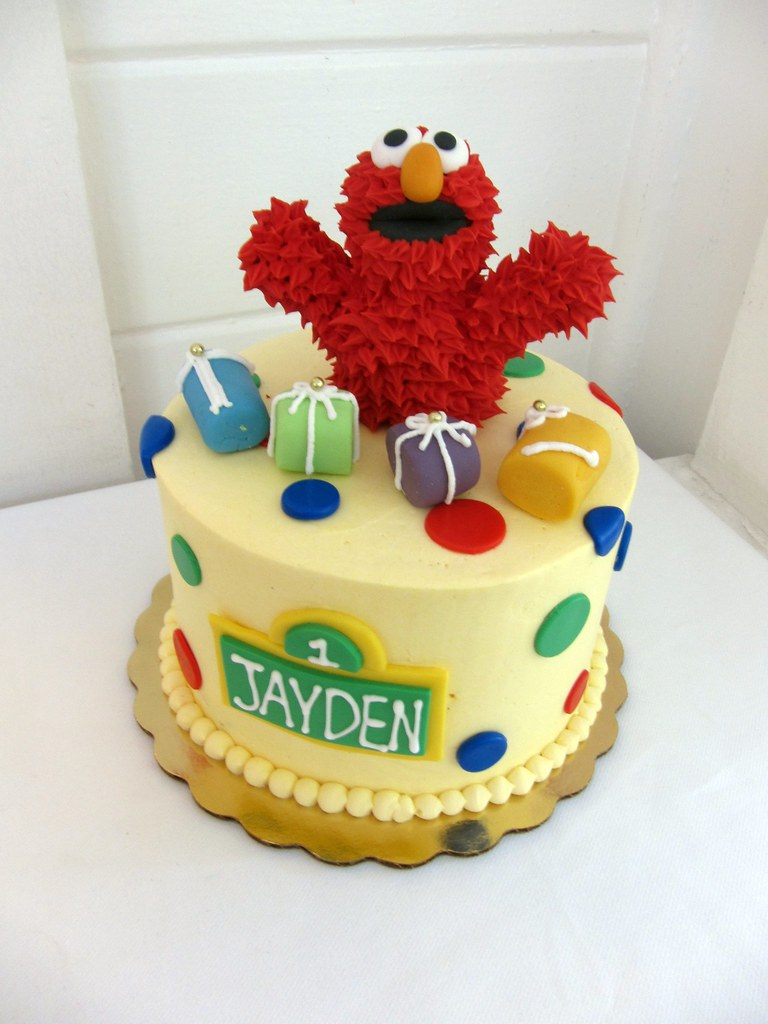 Elmo Birthday Cake Polkadots Olga Flickr