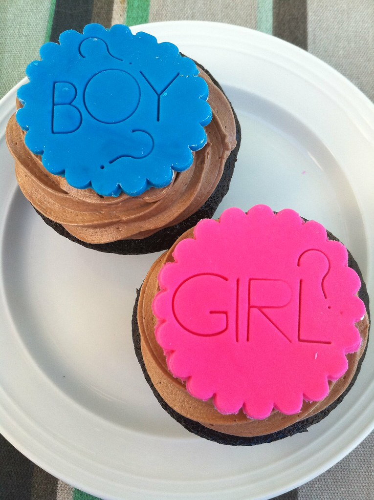 Baby Gender Reveal Cake Toppers
