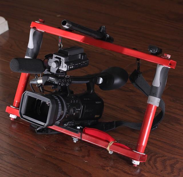 Diy Dslr Camera Rig: My DIY Fig Rig With A Sony HV1U