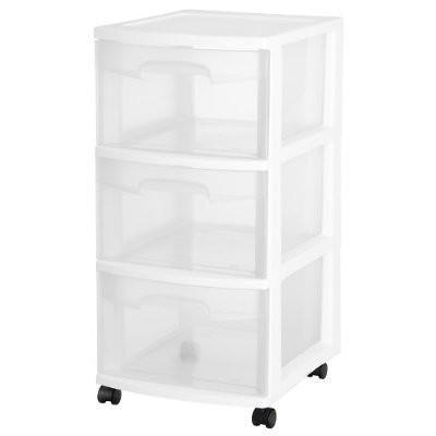 sterilite 3 drawer plastic cart with wheels 移動式收納櫃 黑 flickr