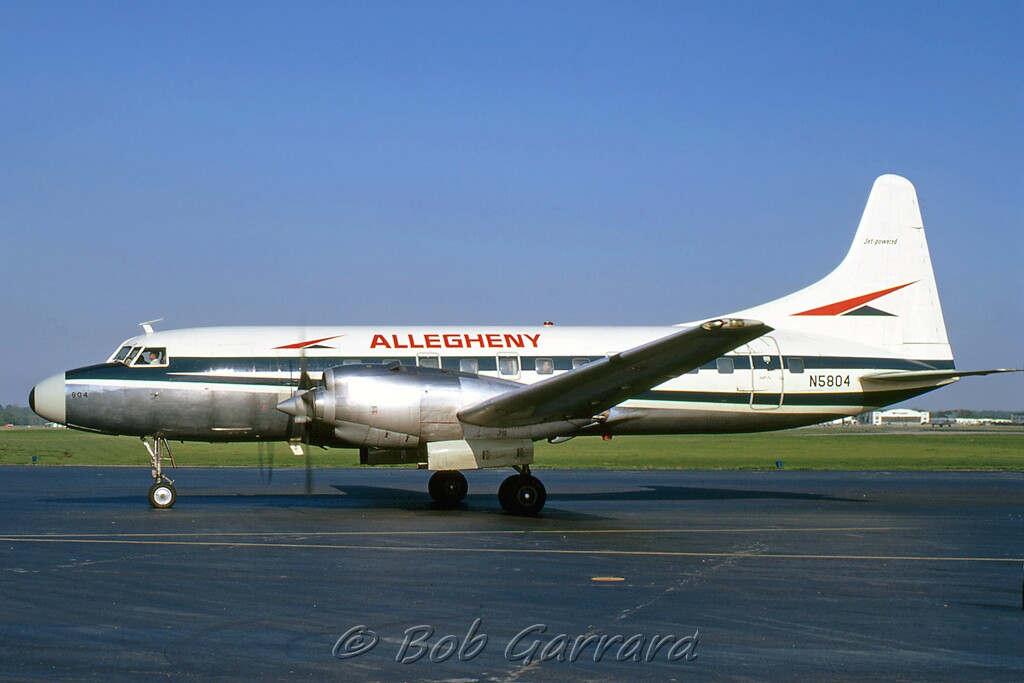 N5804 Allegheny Airlines Convair 580 Cn 155 Delivered