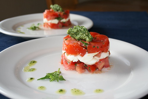 Diced Caprese Salad with Pesto | Diced Caprese Salad with ...