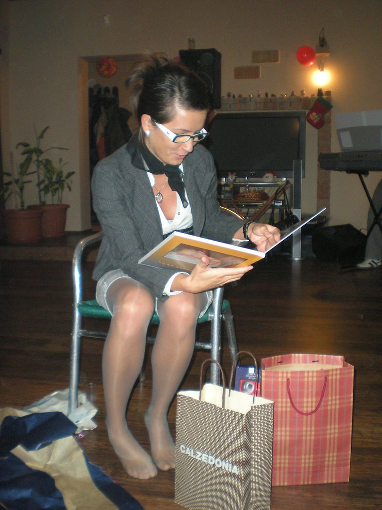 Teen in tights at hobby lobby - 5 2