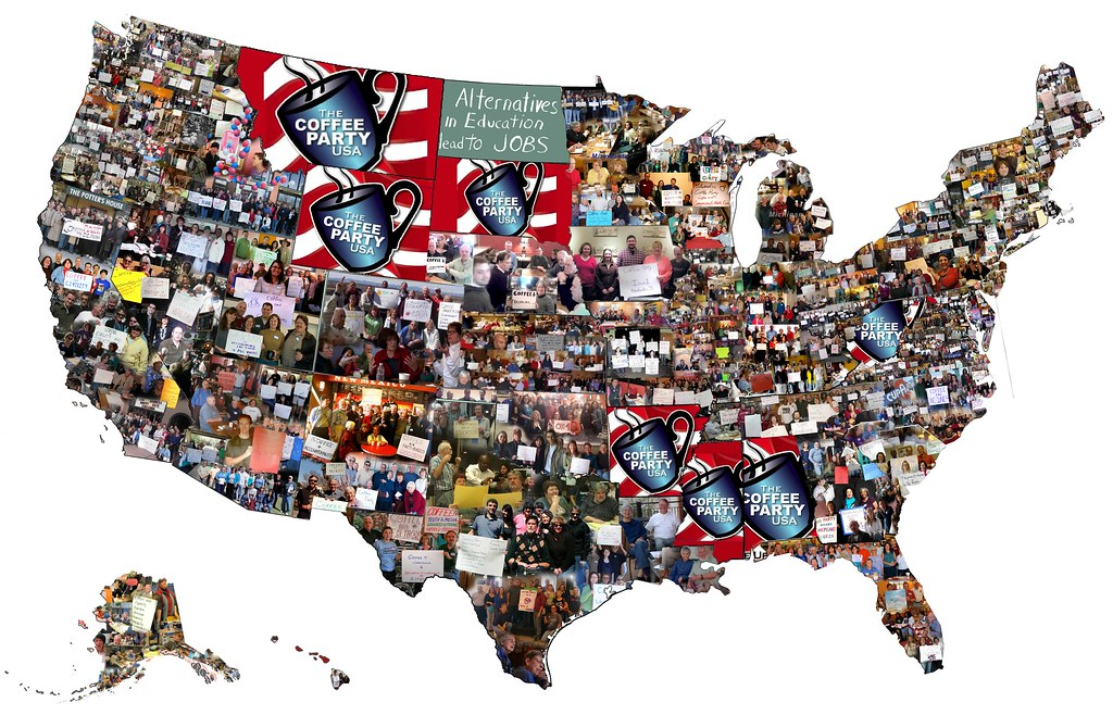Us Map Artwork.Coffee Party Us Map Artwork Coffee Party Usa Flickr