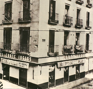 Madrid antiguo primera tienda del corte ingles 1934 calle for Corte ingles plaza del sol madrid
