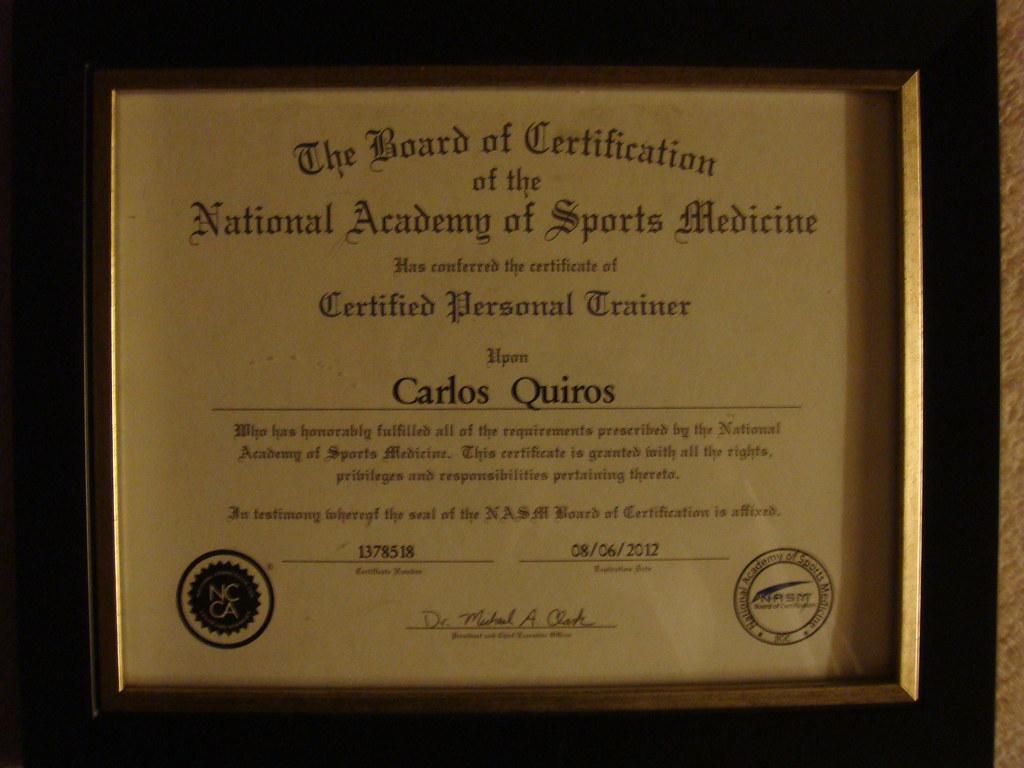 Nasm Certification Nasm Certification Carlos Quiros Flickr