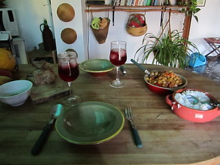 Curry Dinner and Fragolino | by veganbackpacker