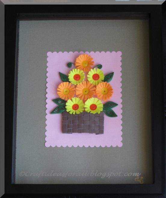 Paper Quilling Flower Arrangements Yeder Berglauf Verband Com