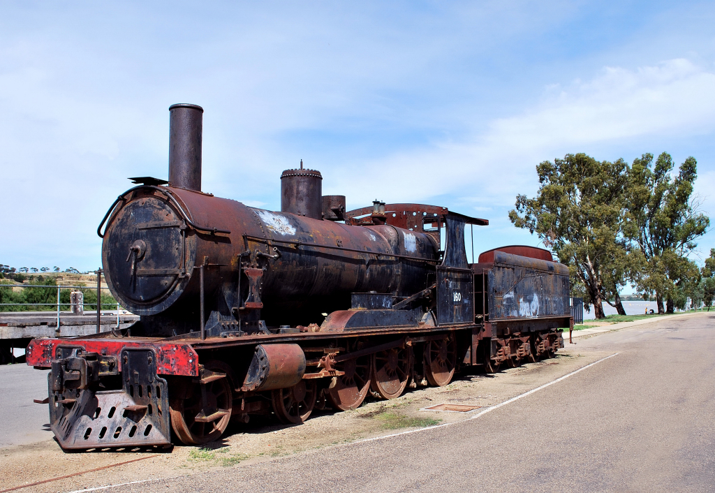 Old Steam Train Engine