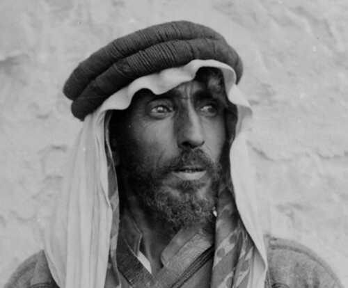 (animated stereo) Bedouin Portrait, early 20th century