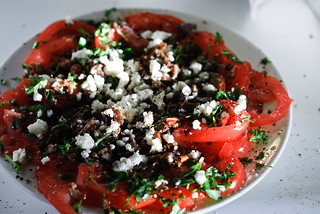 Tomato Salad with Bluefoot Mushrooms, Feta and Basil | by wickenden
