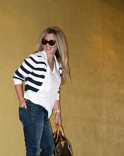 jeans+lace up boots+t shirt+striped cardigan+louis vuitton bag-12 | by ...love Maegan